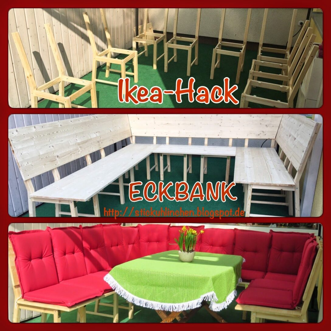 Large Size of Eckbank Selber Bauen Ikea Selbst Hack Diy Aus 8 Sthlen Wird Eine Groe Bzw Lounge Bett 140x200 Küche Zusammenstellen Fenster Einbauen Neue Kopfteil Kaufen Wohnzimmer Eckbank Selber Bauen Ikea