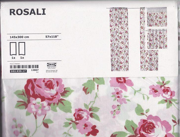 Medium Size of Ikea Rosali Gardinenschal 2 Stck 145 Cm 300 Amazonde Garten Gebrauchte Küche Salamander Modulküche Essplatz Tapete Modern Vinyl Sprüche Für Die Wohnzimmer Gardinen Küche Ikea