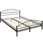 Tectake Metallbett Mit Lattenrost Im Romantischen Real Betten 100x200 Bett Weiß Wohnzimmer Metallbett 100x200