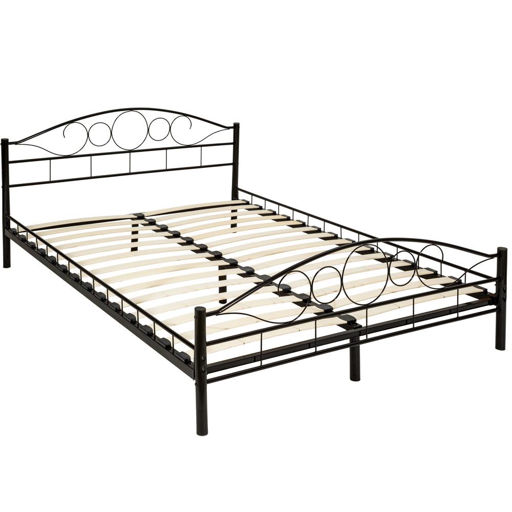 Full Size of Tectake Metallbett Mit Lattenrost Im Romantischen Real Betten 100x200 Bett Weiß Wohnzimmer Metallbett 100x200