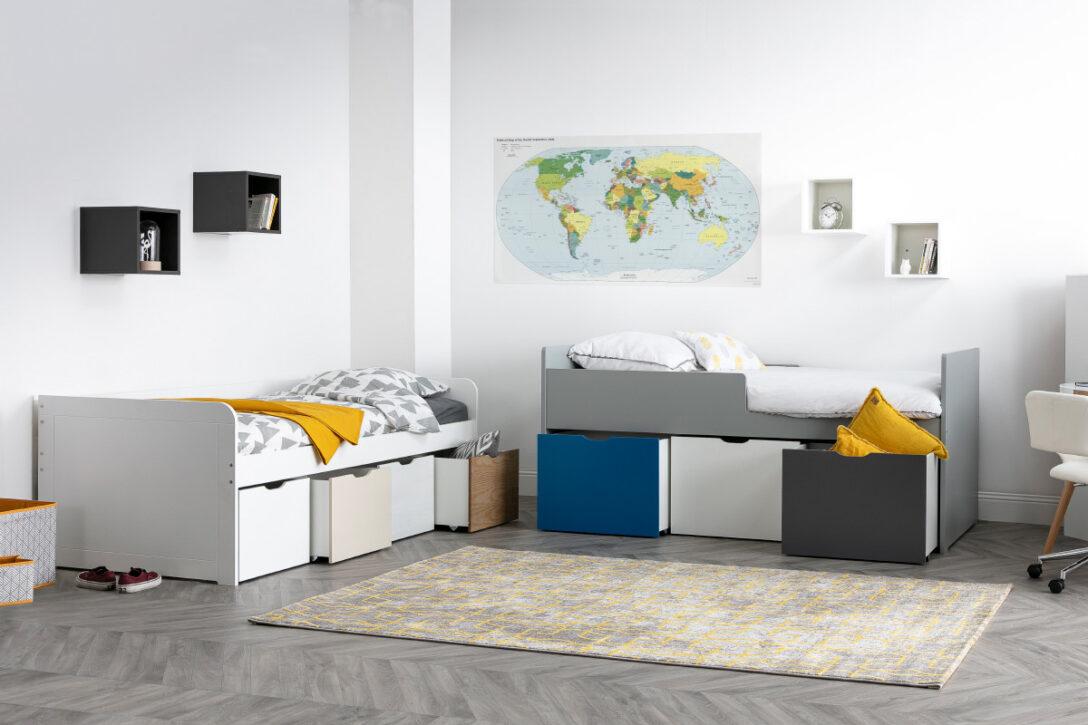 Large Size of Kinderbett Stauraum Mit 4 Schubladen Holz Und Wei Molene Miliboo Bett 160x200 Betten 140x200 200x200 Wohnzimmer Kinderbett Stauraum
