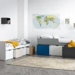 Kinderbett Stauraum Mit 4 Schubladen Holz Und Wei Molene Miliboo Bett 160x200 Betten 140x200 200x200 Wohnzimmer Kinderbett Stauraum