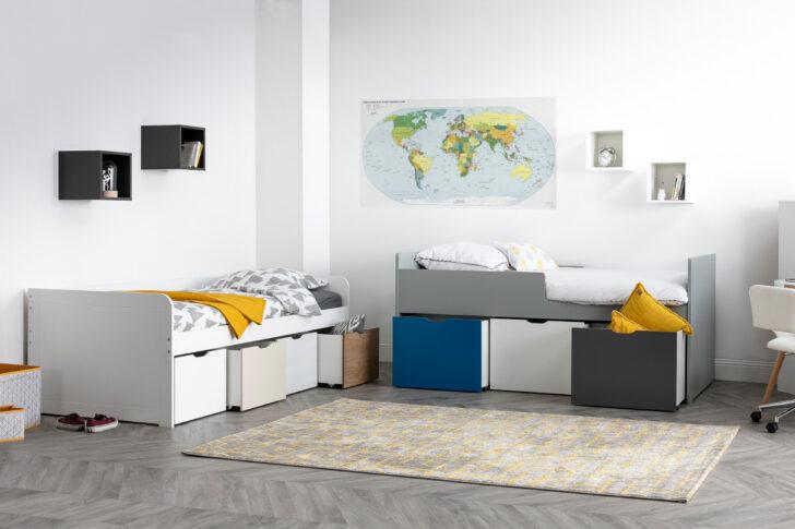 Medium Size of Kinderbett Stauraum Mit 4 Schubladen Holz Und Wei Molene Miliboo Bett 160x200 Betten 140x200 200x200 Wohnzimmer Kinderbett Stauraum