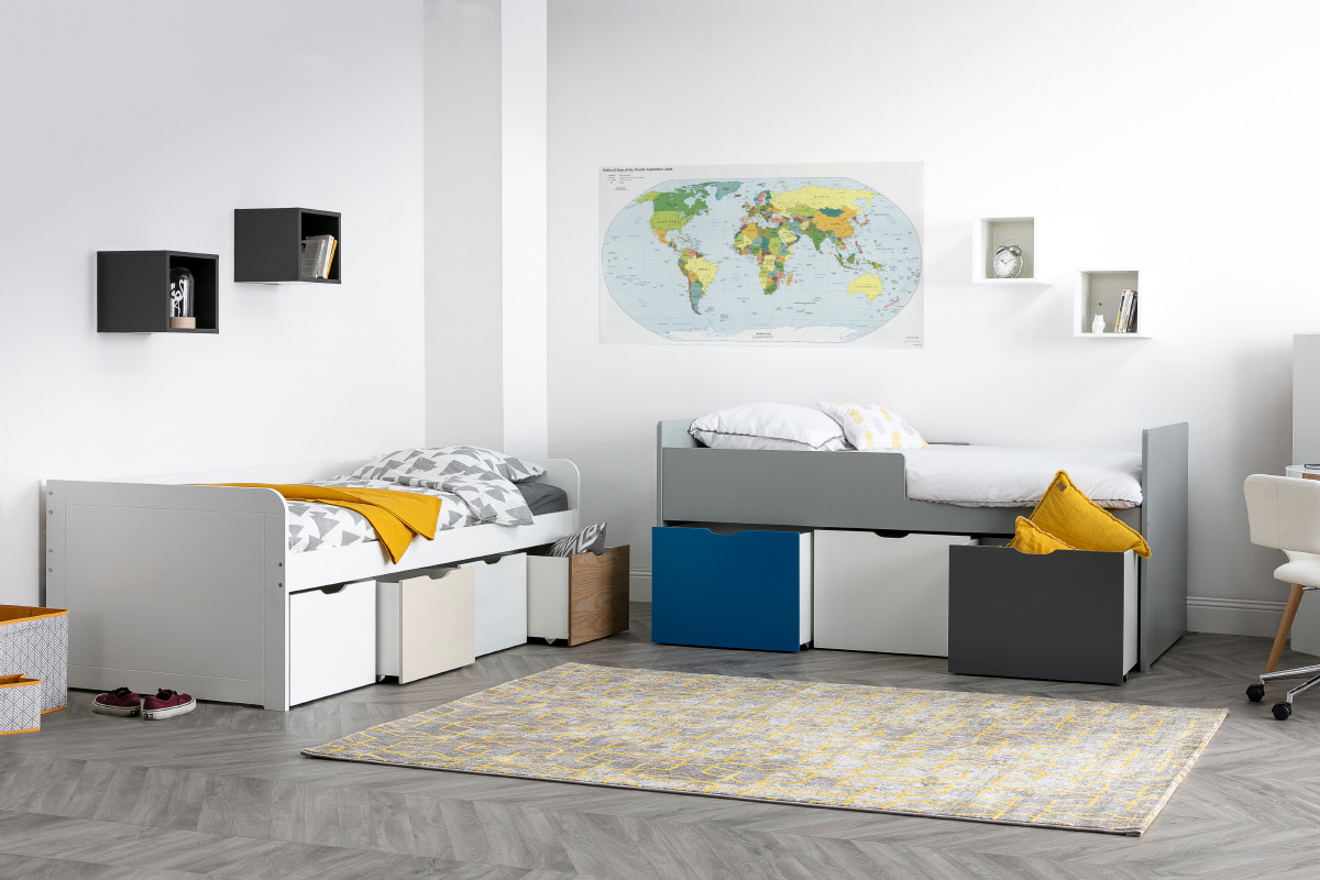 Full Size of Kinderbett Stauraum Mit 4 Schubladen Holz Und Wei Molene Miliboo Bett 160x200 Betten 140x200 200x200 Wohnzimmer Kinderbett Stauraum