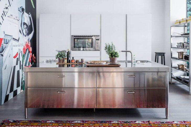 Medium Size of Freistehende Küchen Kchen Edelstahlmbel Edelstahlkchen Küche Regal Wohnzimmer Freistehende Küchen