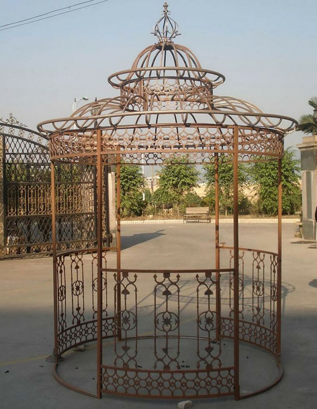 Large Size of Pavillon Eisen Gartenpavillon Rund Festzelt Partyzelt Metall Garten Wohnzimmer Pavillon Eisen