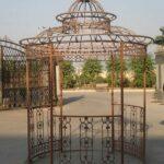 Pavillon Eisen Wohnzimmer Pavillon Eisen Gartenpavillon Rund Festzelt Partyzelt Metall Garten