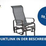 Outsunny Metall Schaukelstuhl Relaxstuhl Gartenstuhl Garten Regal Weiß Bett Regale Wohnzimmer Gartenschaukel Metall