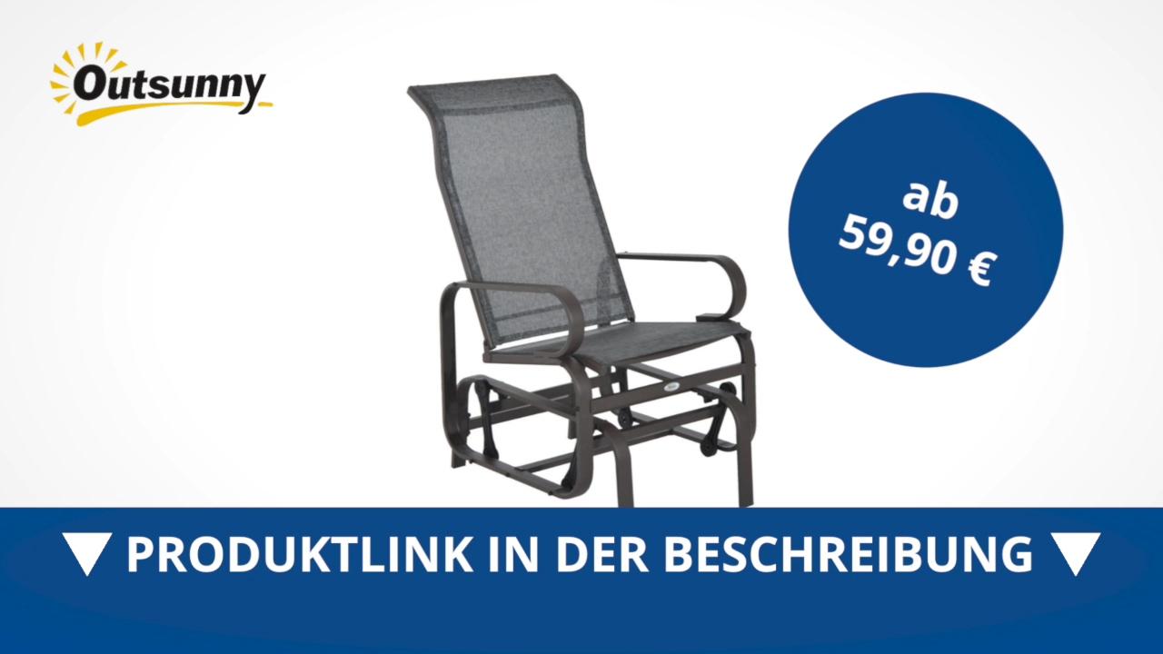 Full Size of Outsunny Metall Schaukelstuhl Relaxstuhl Gartenstuhl Garten Regal Weiß Bett Regale Wohnzimmer Gartenschaukel Metall