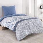 Bettwäsche 155x220 Bettwsche 80x80 Cm Baumwolle Renforce Blau Wei Sprüche Wohnzimmer Bettwäsche 155x220