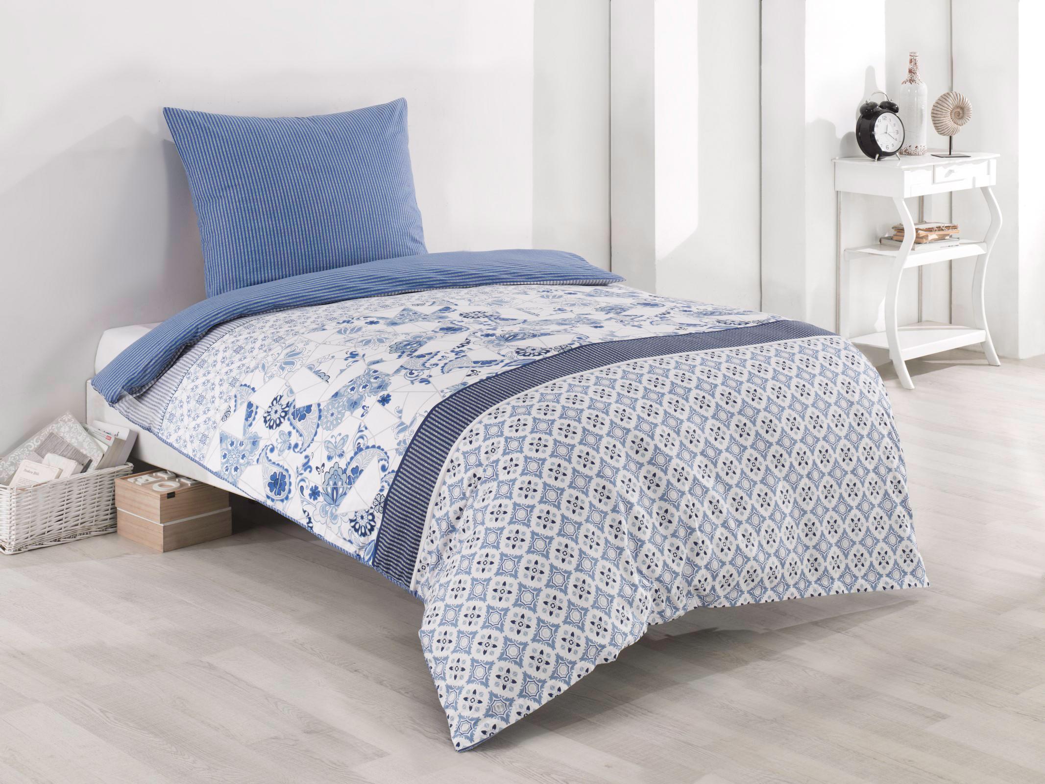 Full Size of Bettwäsche 155x220 Bettwsche 80x80 Cm Baumwolle Renforce Blau Wei Sprüche Wohnzimmer Bettwäsche 155x220