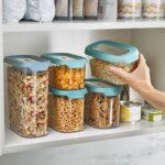 Küchen Aufbewahrungsbehälter Wohnzimmer Joseph Cupboardstore Aufbewahrungsbehlter 5er Set Opal Küchen Regal Aufbewahrungsbehälter Küche