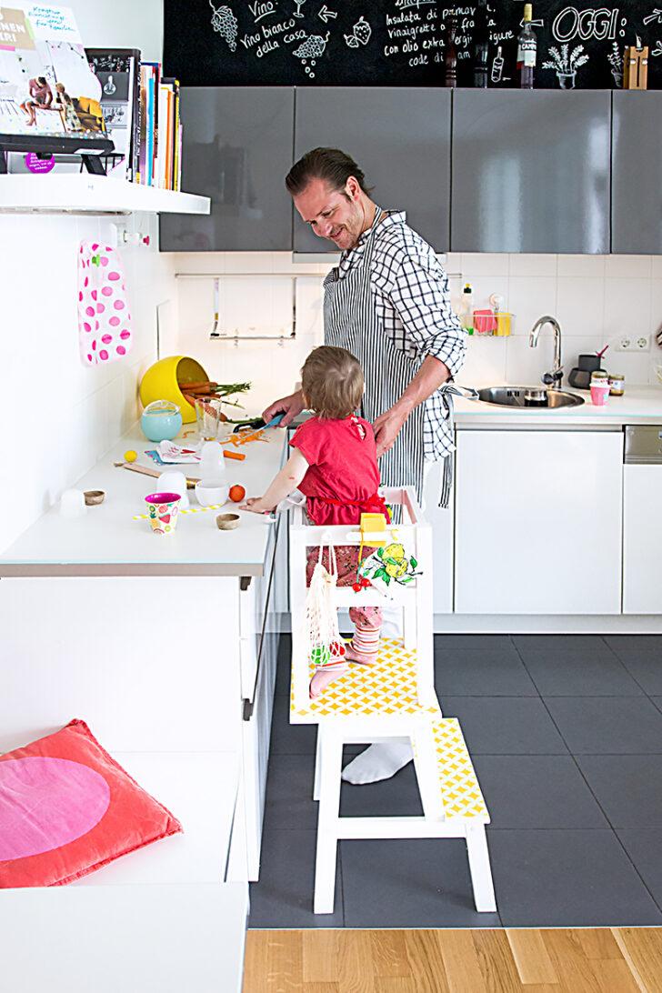 Medium Size of Küche Selber Bauen Ikea Lernturm Hack Aus Zwei Hockern Mit Einfacher Elektrogeräten Günstig Wasserhahn Kaufen Bett 180x200 Beistellregal Treteimer Anthrazit Wohnzimmer Küche Selber Bauen Ikea