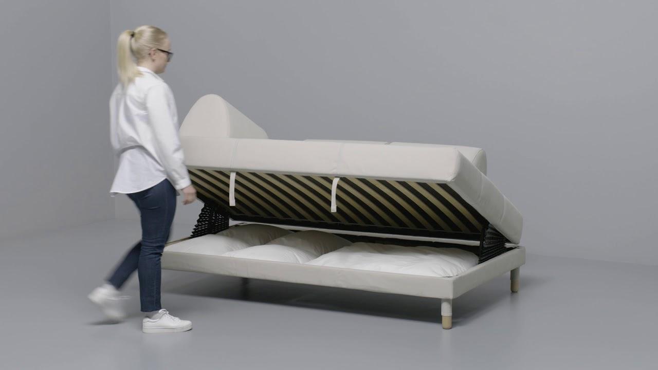 Full Size of Bett 120x200 Ikea Flottebo 120 Anleitung Vom Sofa Zum Youtube Mit Schubladen 90x200 Weiß Betten Bei 180x200 Günstig Komforthöhe Bambus Hasena Wand 180x220 Wohnzimmer Bett 120x200 Ikea