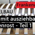 Bett Mit Ausziehbarem Lattenrost Bauen Mbel Fr Das Wohnmobil Ausziehbett Wohnzimmer Ausziehbett Camper