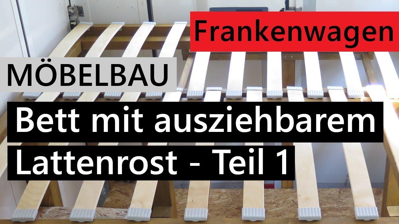 Full Size of Bett Mit Ausziehbarem Lattenrost Bauen Mbel Fr Das Wohnmobil Ausziehbett Wohnzimmer Ausziehbett Camper