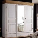 Schlafzimmerschränke Wohnzimmer Schlafzimmerschränke Massivholz Kleiderschrank 3trig Spiegel Wei Schlafzimmerschrank