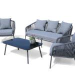 Loungemöbel Aluminium Wohnzimmer Loungemöbel Aluminium Lounge Sitzgruppe 4 Teilig Mit Dicken Kissen Garten Holz Günstig Verbundplatte Küche Fenster