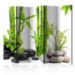 Paravent Bambus Wohnzimmer Asian Style Paravent Bambus Kiesel Foto Auf Leinwand 225x172 Zoom Garten Bett