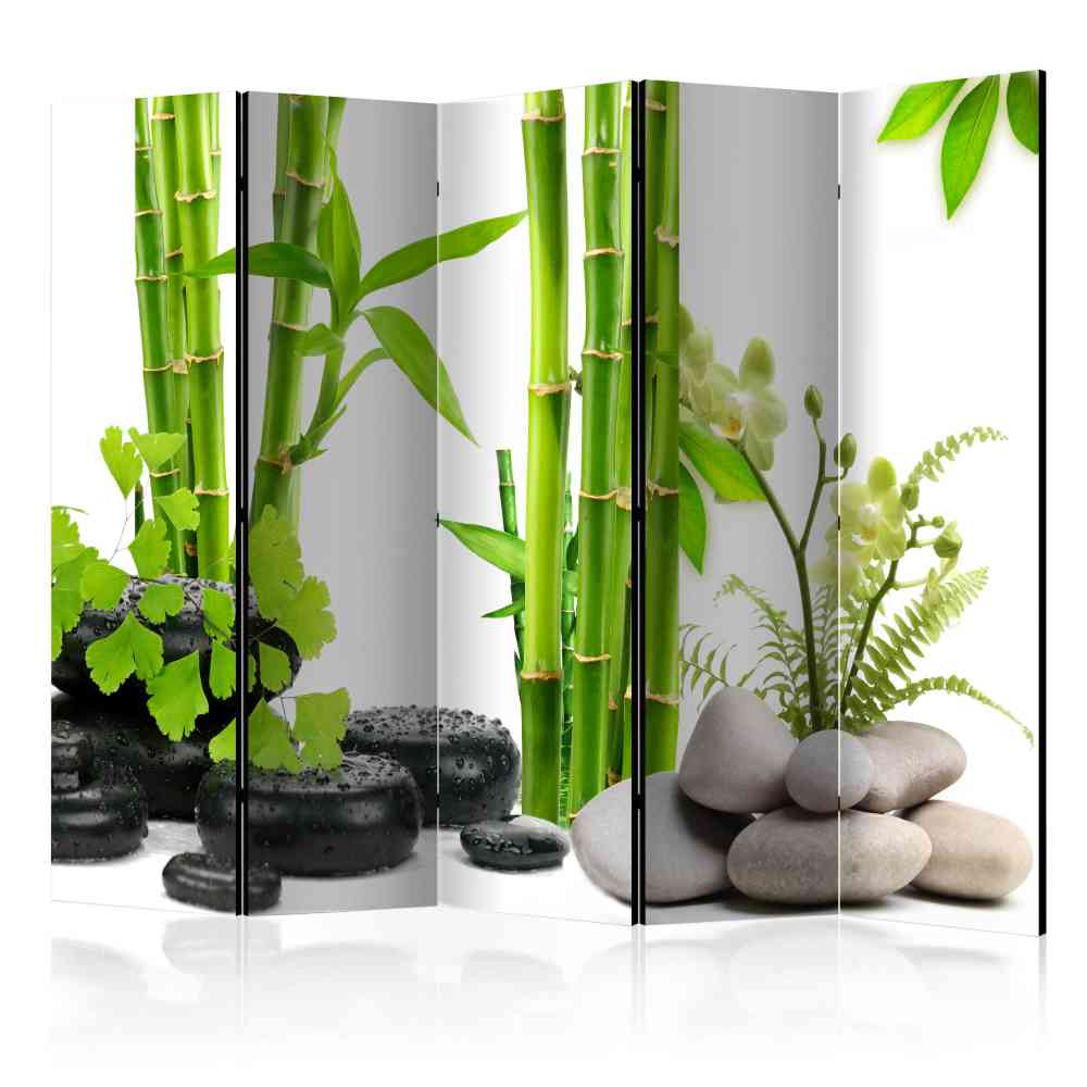 Full Size of Asian Style Paravent Bambus Kiesel Foto Auf Leinwand 225x172 Zoom Garten Bett Wohnzimmer Paravent Bambus