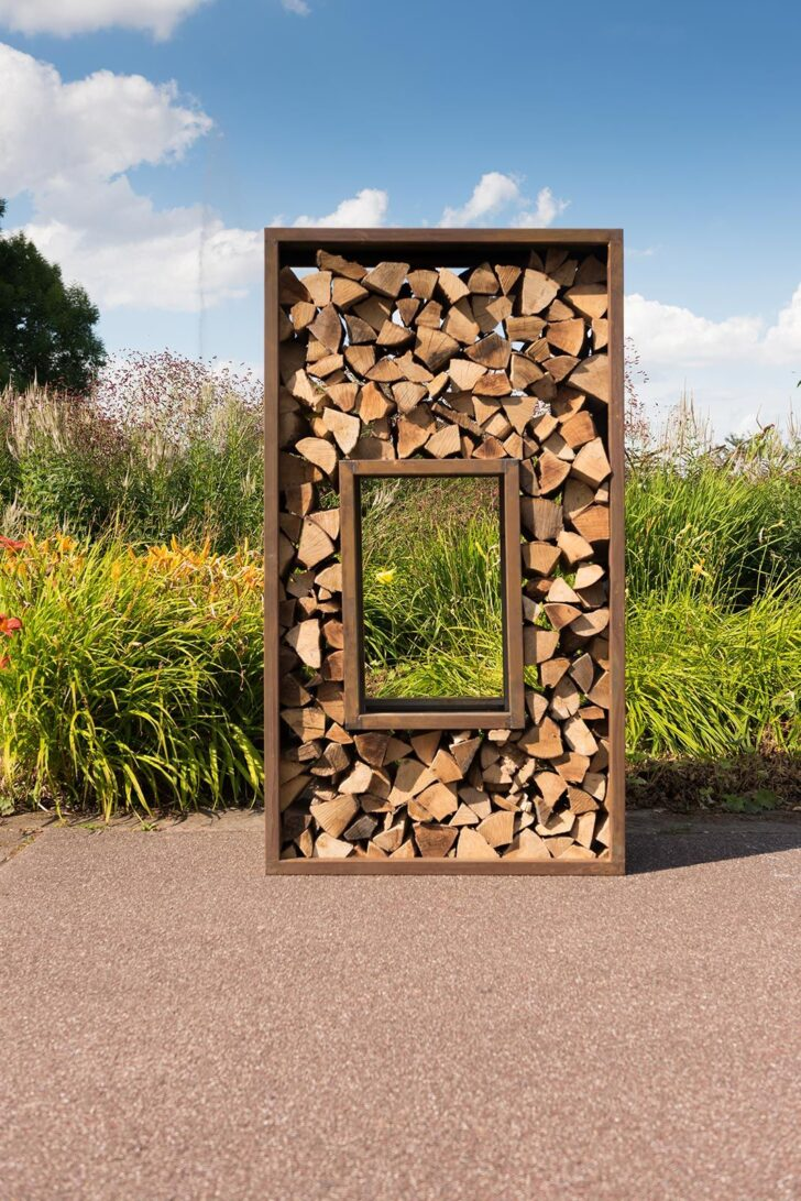 Medium Size of Holzlege Cortenstahl Woodyard Sichtschutz Feuerbacher Tal Von Kessler Lifestyle Wohnzimmer Holzlege Cortenstahl