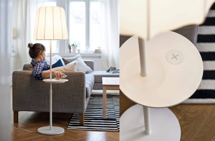 Ikea Stehlampe Holz Lampen Und Tische Mit Qi Ladegert Ab April Betten Aus Regal Fliesen In Holzoptik Bad Massivholz Wohnzimmer Miniküche Esstische Bett Wohnzimmer Ikea Stehlampe Holz