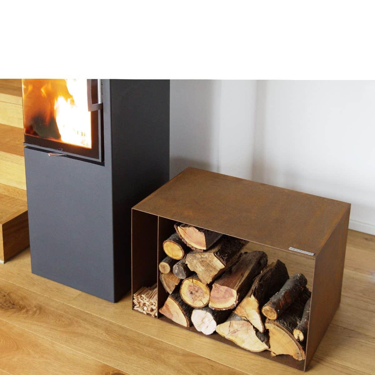 Full Size of Holzlege Cortenstahl Holzlager Aus Woodstore Wohnzimmer Holzlege Cortenstahl