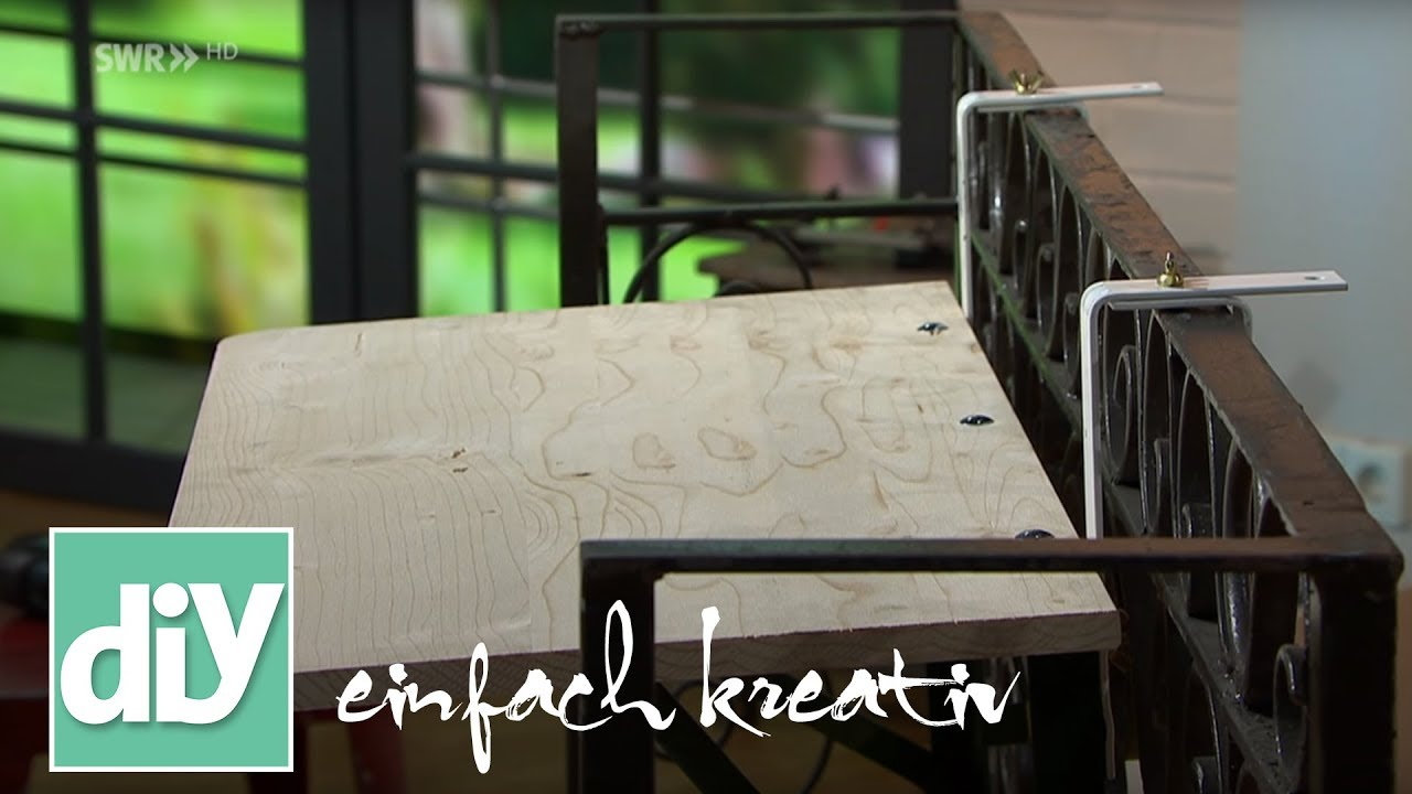 Full Size of Klapptisch Fr Den Balkon Diy Einfach Kreativ Youtube Garten Küche Wohnzimmer Wand:ylp2gzuwkdi= Klapptisch