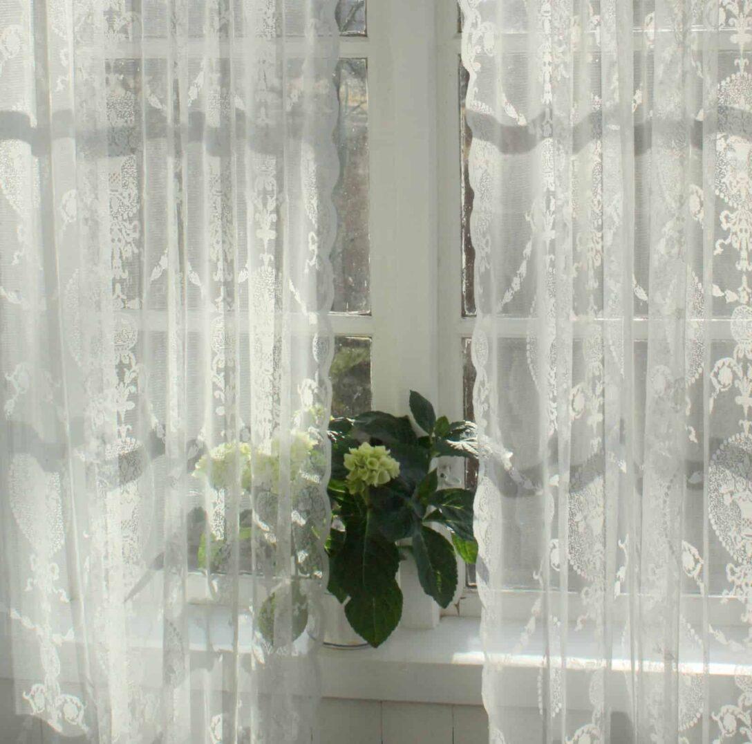Large Size of Vorhang Avery Offwhite Spitzen Gardine Shabby Landhaus Sofa Landhausstil Schlafzimmer Landhausküche Gebraucht Fenster Gardinen Betten Weisse Küche Bad Wohnzimmer Gardine Landhaus