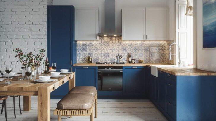 Medium Size of Kche In L Form Richtig Planen Mit Diesen Praktischen Tipps Küche Landhaus Billig Kaufen Hängeschrank Glastüren Jalousieschrank Elektrogeräten Freistehende Wohnzimmer Küche Blau