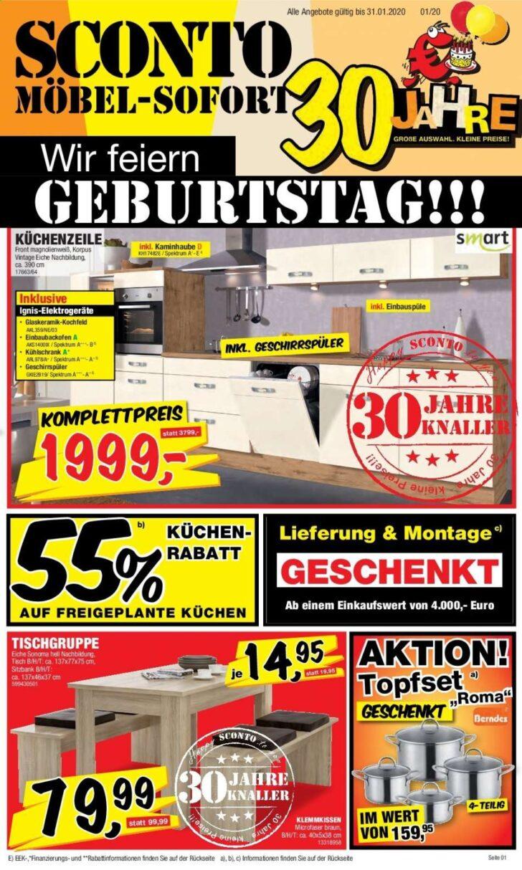 Medium Size of Sconto Prospekt 112020 3112020 Rabatt Kompass Küchen Regal Wohnzimmer Sconto Küchen