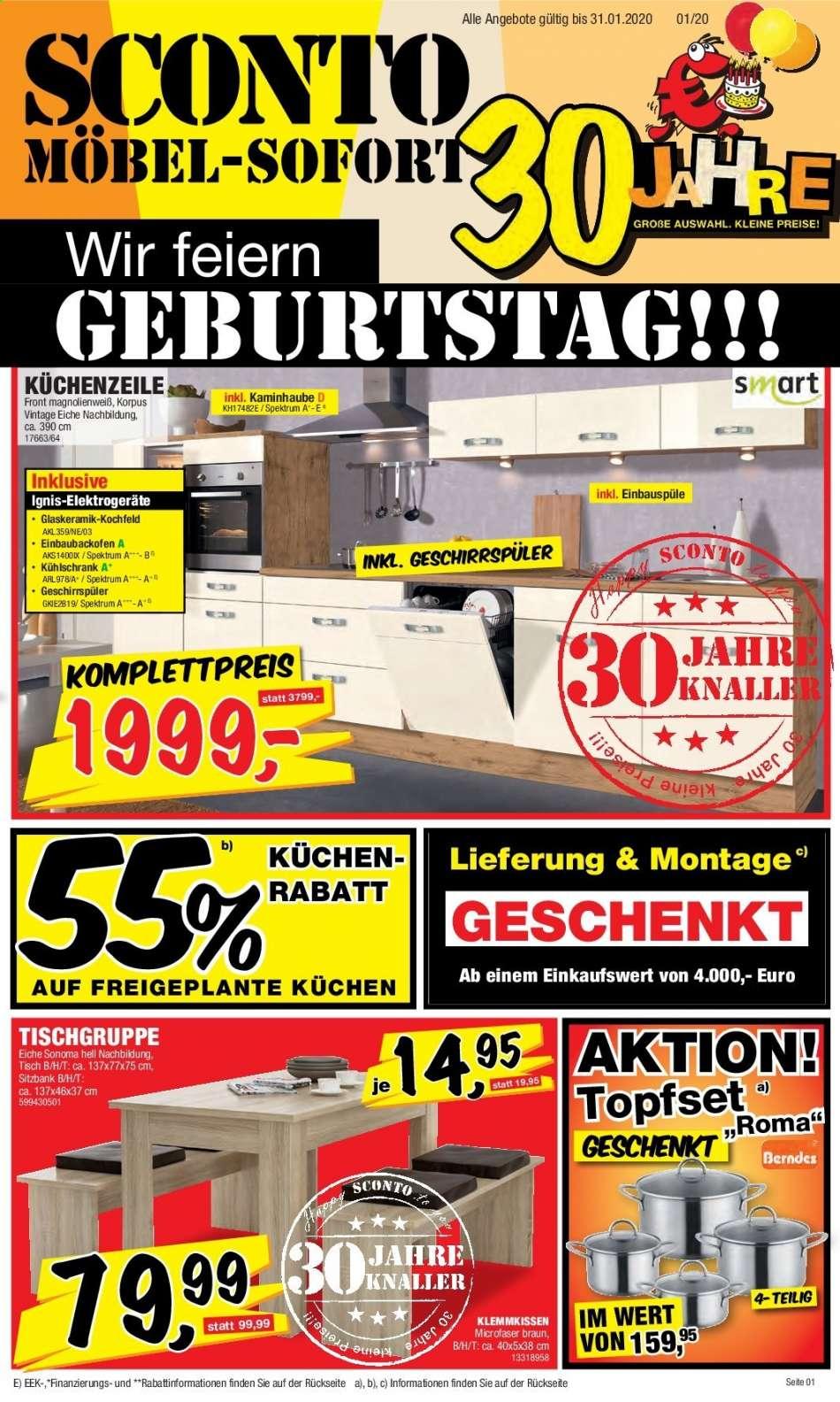 Full Size of Sconto Prospekt 112020 3112020 Rabatt Kompass Küchen Regal Wohnzimmer Sconto Küchen