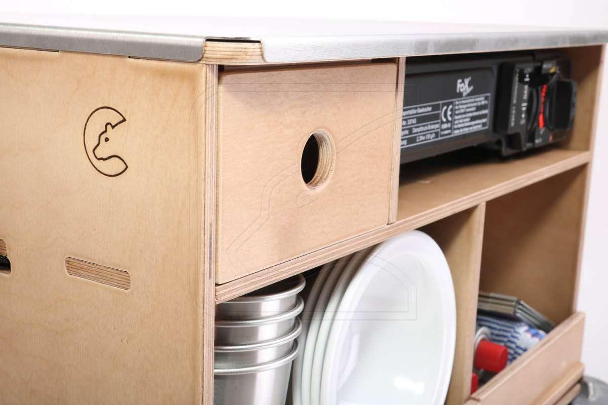 Full Size of Mobile Outdoorküche Outdoorkche In Verschiedenen Ausfhrungen Ohne Küche Wohnzimmer Mobile Outdoorküche