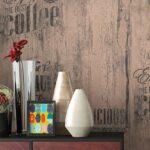Retro Tapete Küche Papiertapete Braun Caf Aufschrift Alte Werbung Kche Tapeten Für Outdoor Edelstahl Fliesen Günstige Mit E Geräten Hängeschrank Höhe Wohnzimmer Retro Tapete Küche