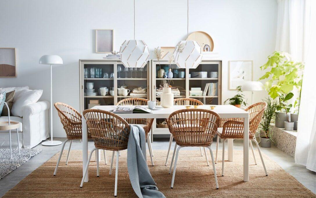 Large Size of Stilvoller Essbereich Mit Rattansthlen Ikea Wohnzimmer Modulküche Betten 160x200 Sofa Schlaffunktion Miniküche Küche Kosten Bei Kaufen Wohnzimmer Hängelampen Ikea