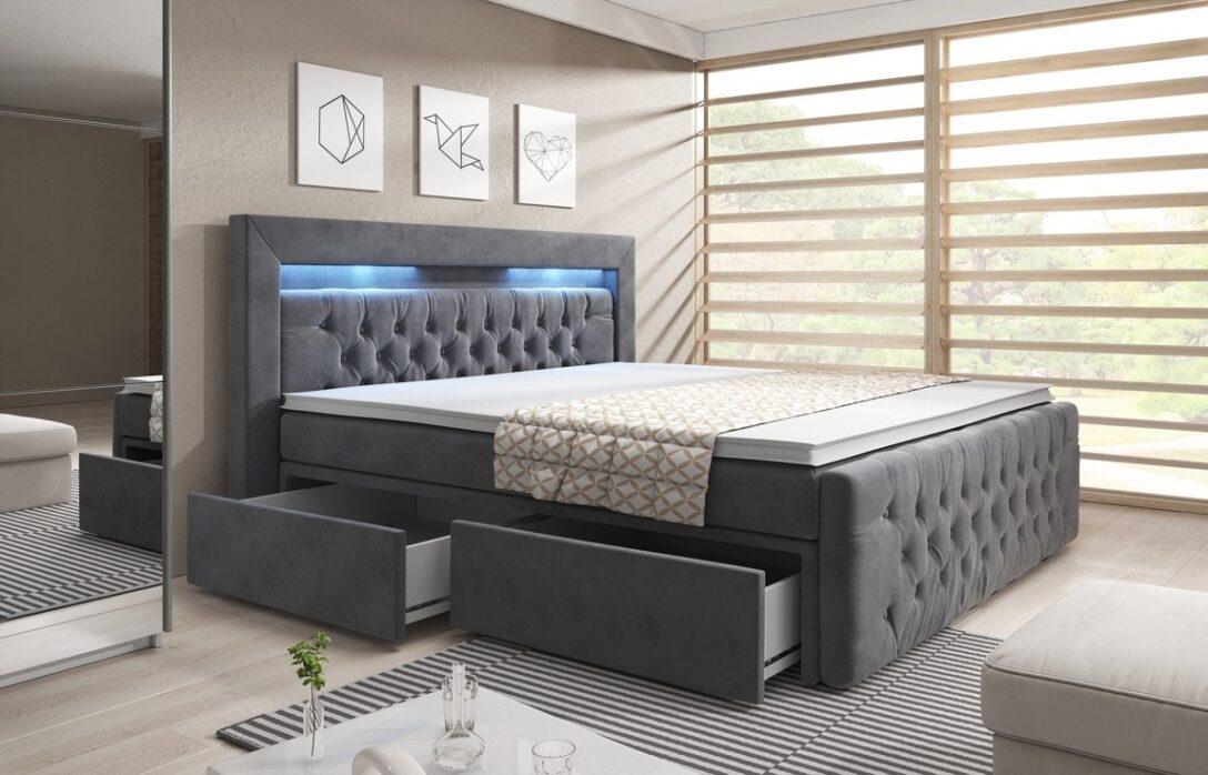 Large Size of Boxspringbett Mit Schubladen Virona 180x200cm Sofa Relaxfunktion Elektrisch Bett Weiß Küche Geräten Schlafzimmer überbau Schlaffunktion Federkern Recamiere Wohnzimmer Boxspringbett Mit Schubladen