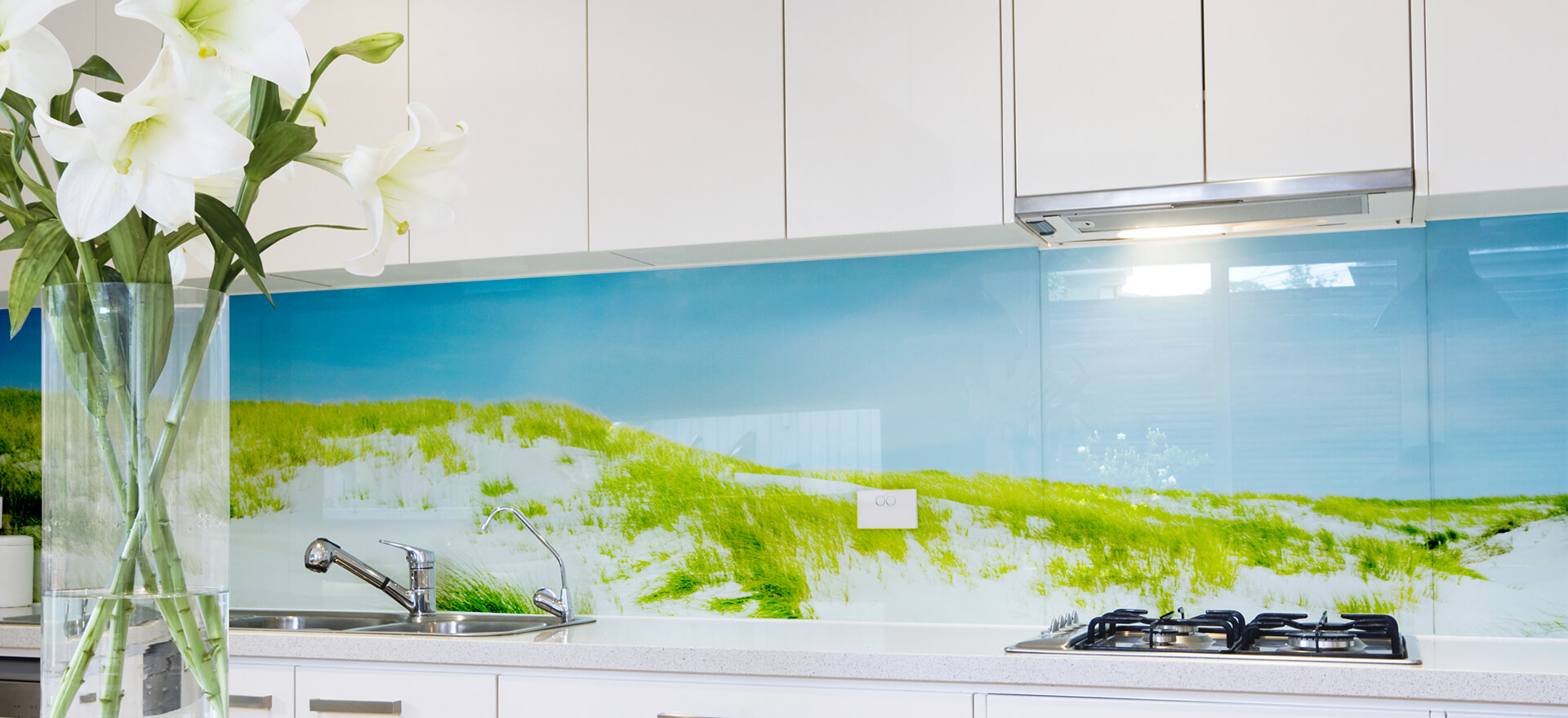 Full Size of Küchen Glasbilder Glasrckwnde Glasbild Selbst Gestalten Glaspostercom Bad Küche Regal Wohnzimmer Küchen Glasbilder