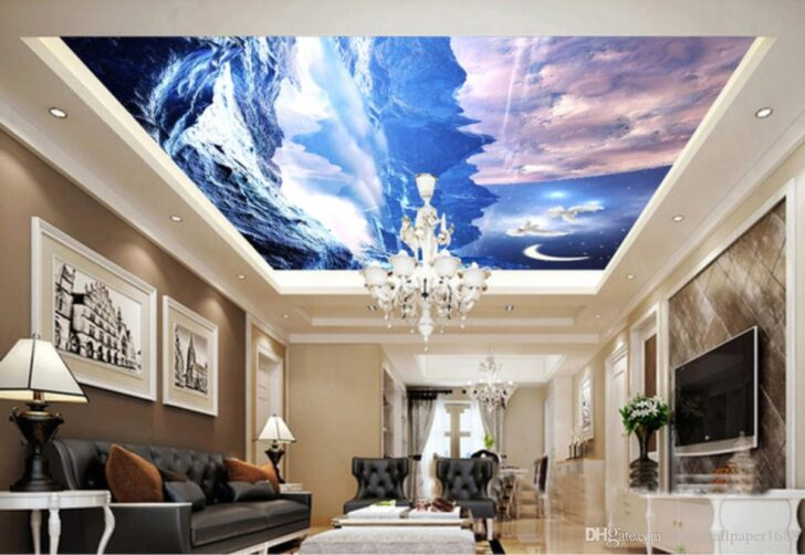 Medium Size of Wohnzimmer Fantasy Starry Earth Wandbild 3d Xxl Vorhänge Led Lampen Board Gardinen Beleuchtung Fototapeten Sofa Kleines Landhausstil Küche Stehlampe Wohnzimmer Wohnzimmer Decke