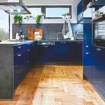 Küche Blau Wohnzimmer Küche Blau Blaue Kchen Gnstig Kaufen Kompetente Kchenplanung Kchenbrse Fliesenspiegel Selber Machen Wandregal Landhaus Landhausstil Pendeltür Winkel