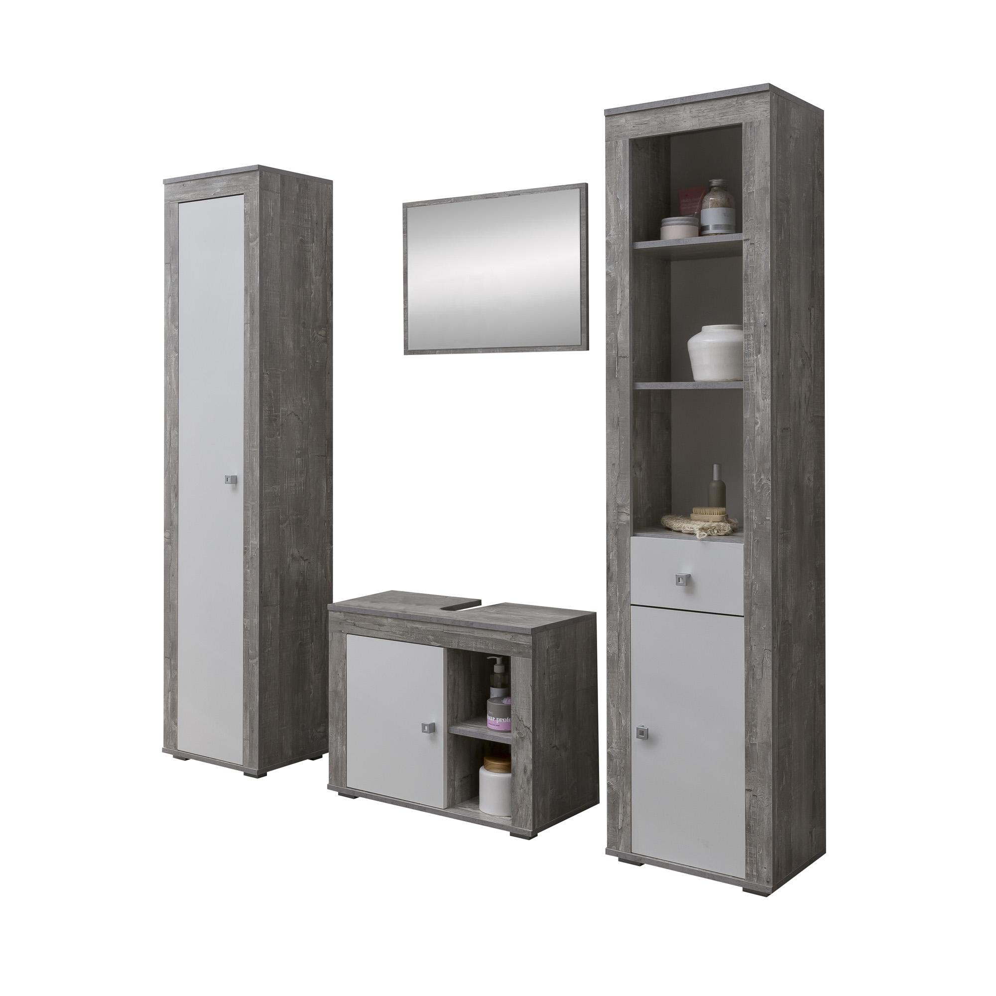 Full Size of Badmbel Set Rgen 4 Teilig 145 Cm Breit Wei Betongrau Ausgefallene Betten Möbelgriffe Küche Wohnzimmer Ausgefallene Möbelgriffe