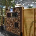 Holzlege Cortenstahl Sichtschutz Aus 2 M Bronder Wohnzimmer Holzlege Cortenstahl