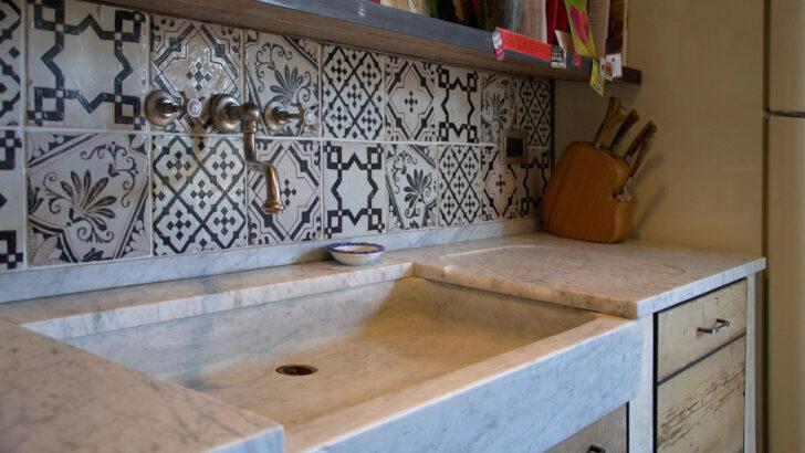 Medium Size of Splbecken Stein Naturstein Travertin Led Panel Küche Aluminium Verbundplatte Sideboard Mit Arbeitsplatte Billige Selbst Zusammenstellen Einhebelmischer Holz Wohnzimmer Waschbecken Küche Weiß