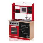 Baby Vivo Kinderkche Spielkche Aus Holz Mit Tafel Mila In Rot Kinder Spielküche Wohnzimmer Spielküche