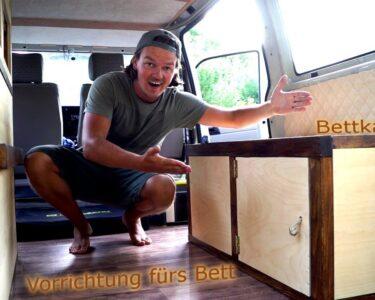 Ausziehbett Camper Wohnzimmer Ausziehbett Camper Vorrichtung Fr Das Bett Bettkasten In Unserem Vw Mit