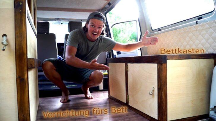Medium Size of Ausziehbett Camper Vorrichtung Fr Das Bett Bettkasten In Unserem Vw Mit Wohnzimmer Ausziehbett Camper