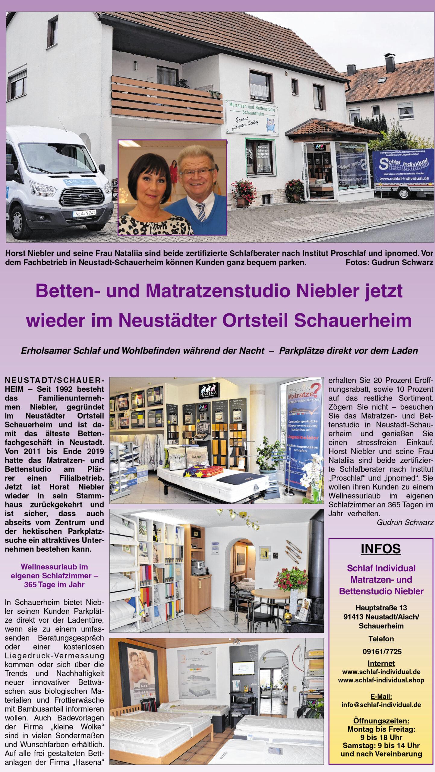 Full Size of Schlaf Individual Matratzen Und Bettenstudio Niebler Startseite Betten München Sofa Wohnzimmer Schlafstudio München