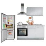 Roller Miniküche Wohnzimmer Roller Miniküche Mini Kche Wei Beton Optik Mit E Gerten 160 Cm Online Ikea Kühlschrank Stengel Regale