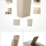 Küchenabfalleimer Creative 10l Double Cap Mit Mllsack Aufbewahrungsbox Wohnzimmer Küchenabfalleimer