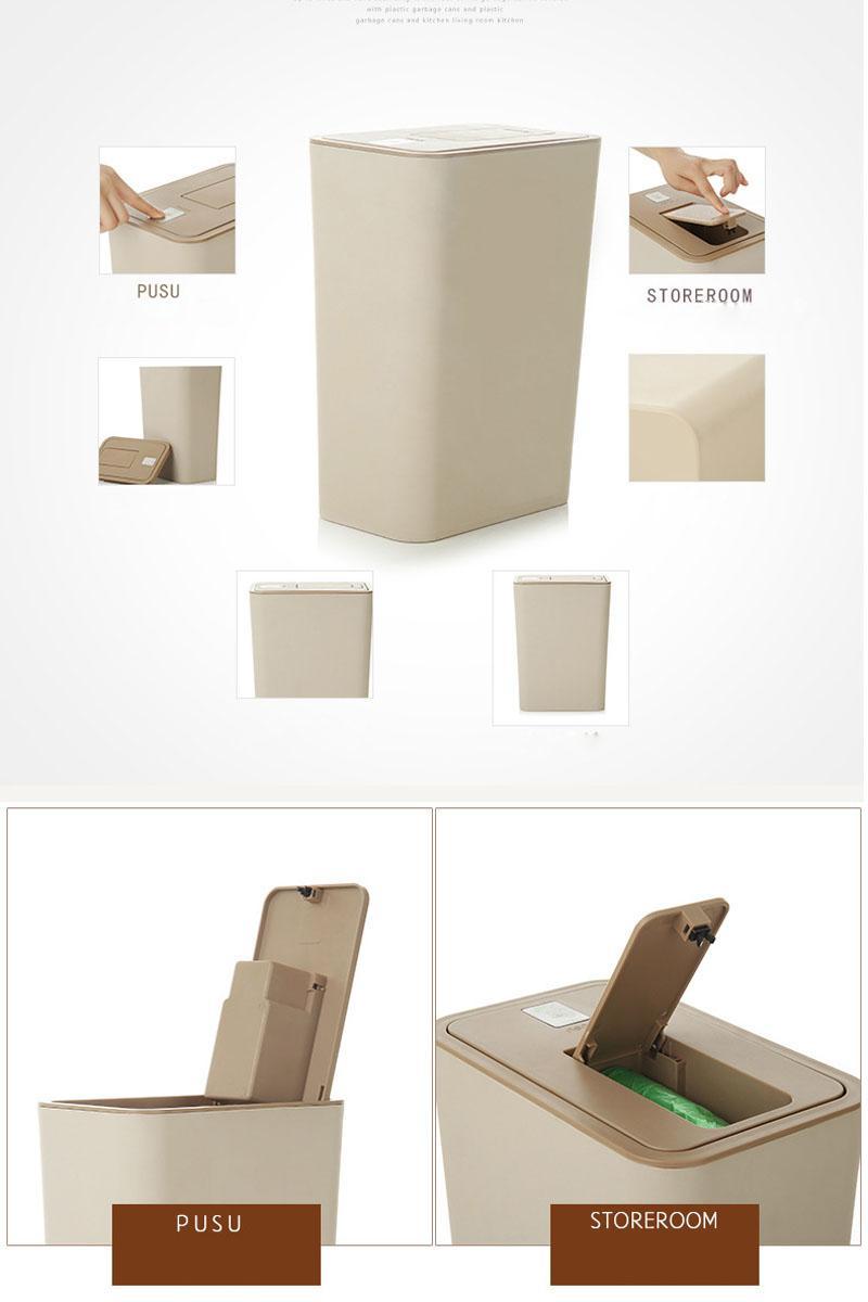 Full Size of Küchenabfalleimer Creative 10l Double Cap Mit Mllsack Aufbewahrungsbox Wohnzimmer Küchenabfalleimer