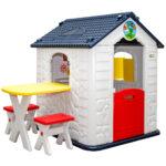 Spielhaus Kinder Garten Ab 1 Kinderhaus Mit Tisch Bewässerungssystem Sitzbank Loungemöbel Lounge Möbel Wohnen Und Abo Kunststoff Stapelstühle Wohnzimmer Spielhaus Kinder Garten